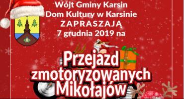 Przejazd zmotoryzowanych Mikołajów w Karsinie
