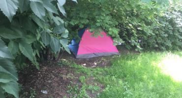 Nowe pole namiotowe na Ochocie