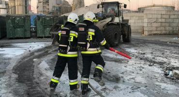 Znowu pożar śmieci w sortowni przy ul. Zawodzie (fotorelacja)