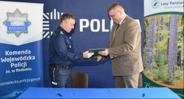 Porozumienie o współpracy między policją a lasami państwowymi
