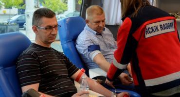 """""""100 litrów krwi na 100-lecie Policji"""". Akcja honorowej zbiórki krwi w Szydłowcu"""