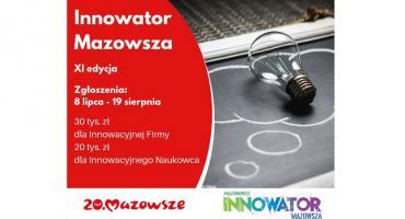 """Ruszyła XI edycja konkursu """"Innowator Mazowsza"""""""