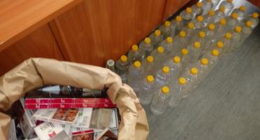 Alkohol i papierosy bez akcyzy w jednym z mieszkań w centrum miasta