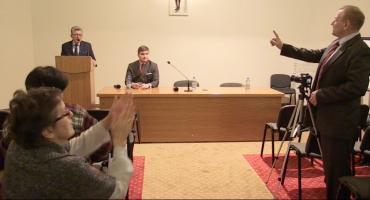 Prowokacyjne zachowanie pseudoopozycji na spotkaniu z posłem Stanisłwem Piotrowiczem