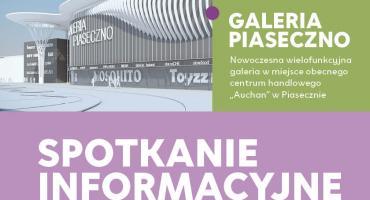 Informacja o spotkaniu informacyjnym dla mieszkańców w sprawie Galerii Piaseczno