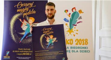 Namalował książkę dla Biedronki i sdobył 100 tys. zł