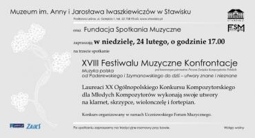 XVIII Festiwal Muzyczne Konfrontacje w Stawisku