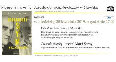 Wiesław Kępiński na Stawisku - zapraszamy na spotkanie