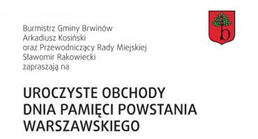 Uroczystości Pamięci Powstania Warszawskiego  - 1 sierpnia na rynku brwinowskim