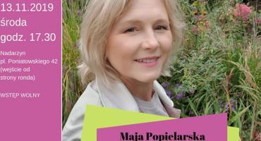 Spotkanie z Mają Popielarską w Bibliotece Publicznej Gminy Nadarzyn