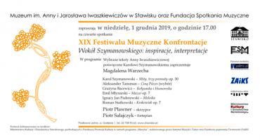 Muzeum im. A. i J. Iwaszkiewiczów w Stawisku oraz Fundacja Spotkania Muzyczne zapraszają