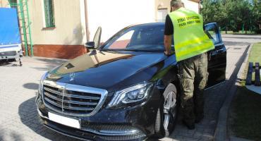 Skradziony luksusowy mercedes odnalazł się na polskiej granicy