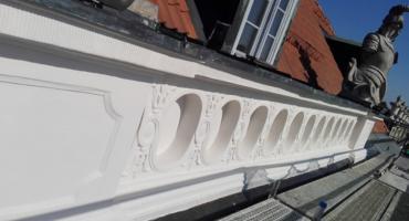Zostały odnowione części elewacji zewnętrznej Pałacu Branickich