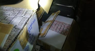 Tysiące paczek nielegalnych papierosów przechwycone przez Straż Graniczną