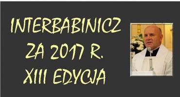KS. GRZEGORZ KOZICKI LAUREATEM INTERBABINICZA 2017