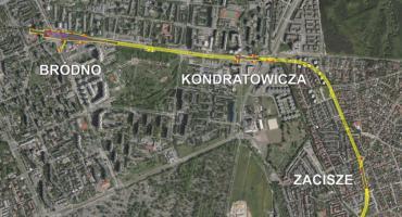 Budowa stacji metra na Zaciszu i Bródnie. Zamknięcie ulicy Kondratowicza.
