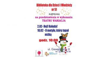 Zaproszenie na przedstawienia w wykonaniu Teatru Wariacja!