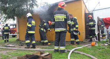 Pożar domu w Leniach Wielkich