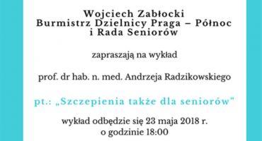 Wykład pt. Szczepienia także dla seniorów