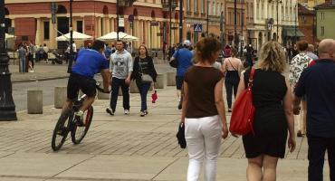 Rowerzysta ze Śródmieścia