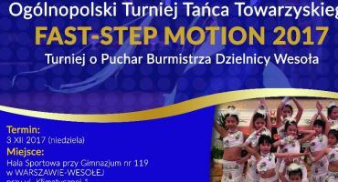 Ogólnopolski Turniej Tańca Fast-Step Motion 2017 w Wesołej