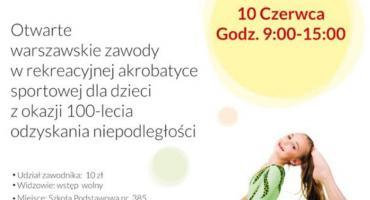 Zawody dla Młodych Talentów Akrobatyki Sportowej 10 czerwca w Wesołej