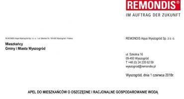 Remondis - Apel do mieszkańców Wyszogrodu