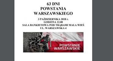 63 DNI POWSTANIA WARSZAWSKIEGO 3 PAŹDZIERNIKA 2018 r.