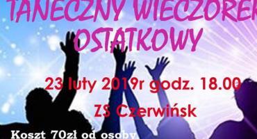 Taneczny Wieczorek Ostatkowy 23,02,2019