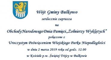 Obchody Narodowego Dnia Pamięci Żołnierzy Wyklętych -Bulkowo