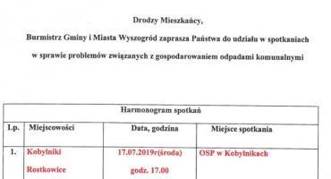 Burmistrz Gminy i Miasta Wyszogród zaprasza na spotkania w sprawie śmieci