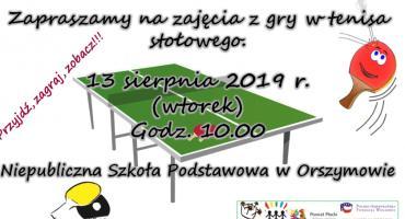 Turniej Tenisa Stołowego w Orszymowie 13.08