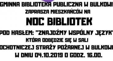 Noc Bibliotek w Bulkowie