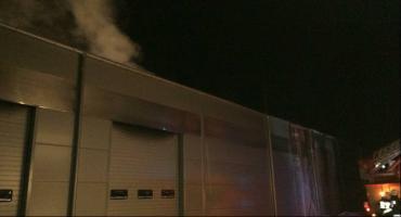 Pożar hali w Zwoleniu