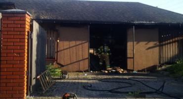Pożar w hotelu w Mszczonowie