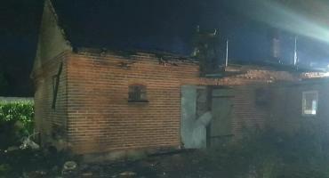 Skutki pożaru w Babskich Budach