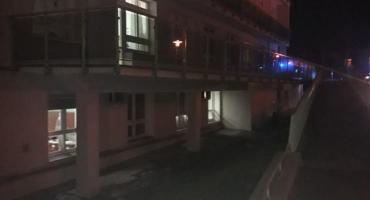Pożar w przyszpitalnym budynku technicznym- ewakuacja Oddziału Dziecięcego