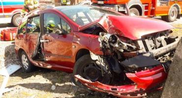 Wypadek w Sierakowicach Lewych- dwoje dzieci trafiło do szpitala