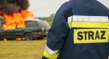 Pożar na jednej z posesji na ul. Mszczonowskiej w Skierniewicach