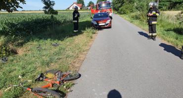 Potrącenie rowerzysty w Woli Szydłowieckiej