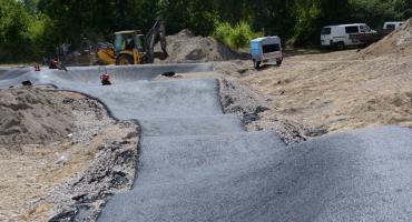 Pumptrack nad Zalewem - prace zbliżają się do końca