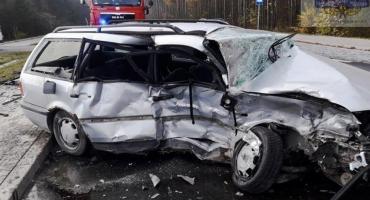Poranne zdarzenie drogowe na DW705