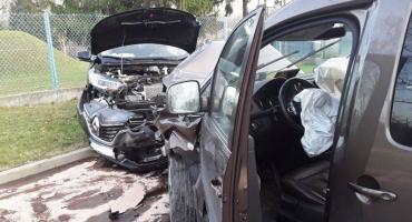 Zderzenie aut na ul. Waryńskiego