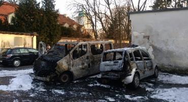 Pożar na terenie Muzeum w Nieborowie. Spłonęły dwa auta