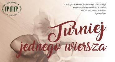 Turniej dla poetów amatorów w Łowiczu