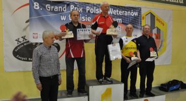 Podium Zdzisława Orzechowskiego w turnieju tenisa stołowego w Radomiu