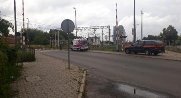 Łowicz: ranny mężczyzna leżał na przejeździe kolejowym