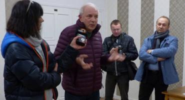 Zebranie mieszkańców ws. blokady drogi krajowej nr 70 w Łowiczu