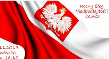 I Nocny Bieg Niepodległości w Łowiczu. Trwają zapisy