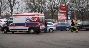 Zderzenie czterech pojazdów na drodze krajowej nr 70 w Łowiczu